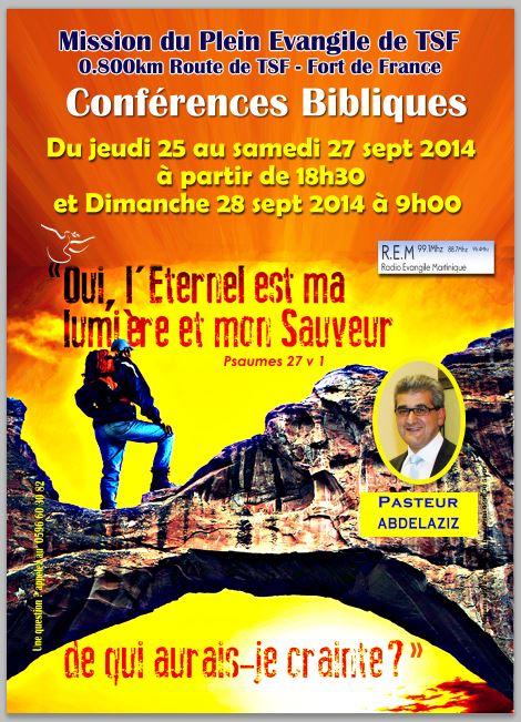 Evangélisation TSF 25 au 28 09 14